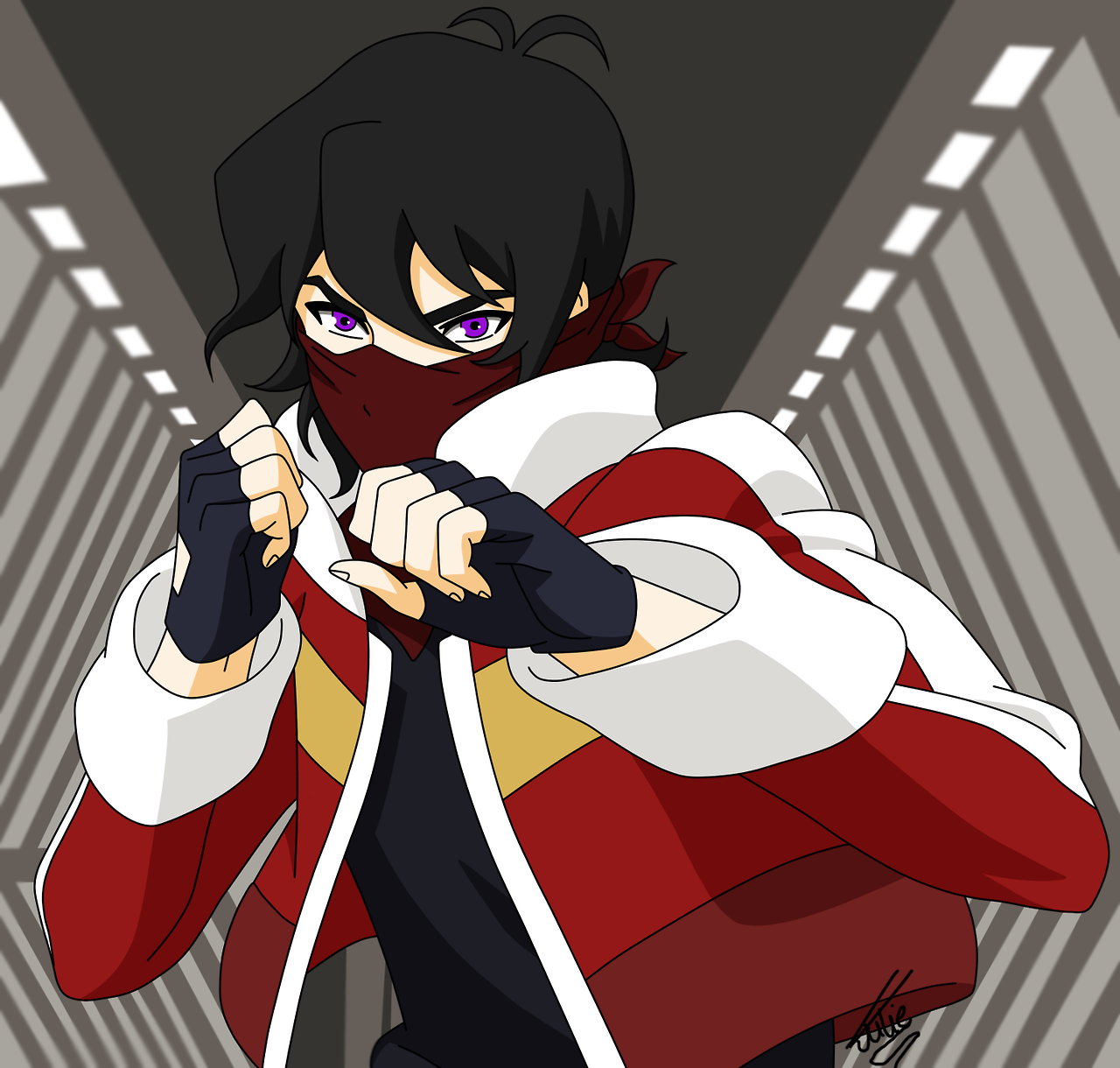 Keith in karate action fight from Voltron Legendary Defender