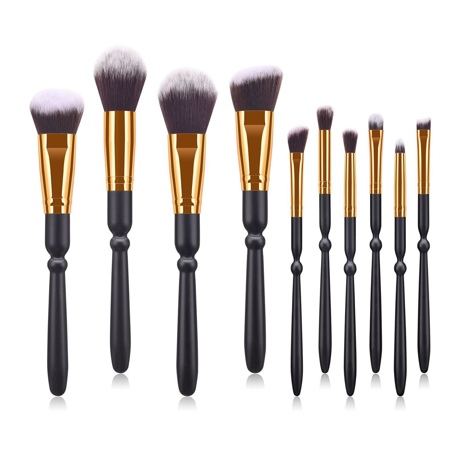 10 pieces black handle Best Type Of Makeup Brushes