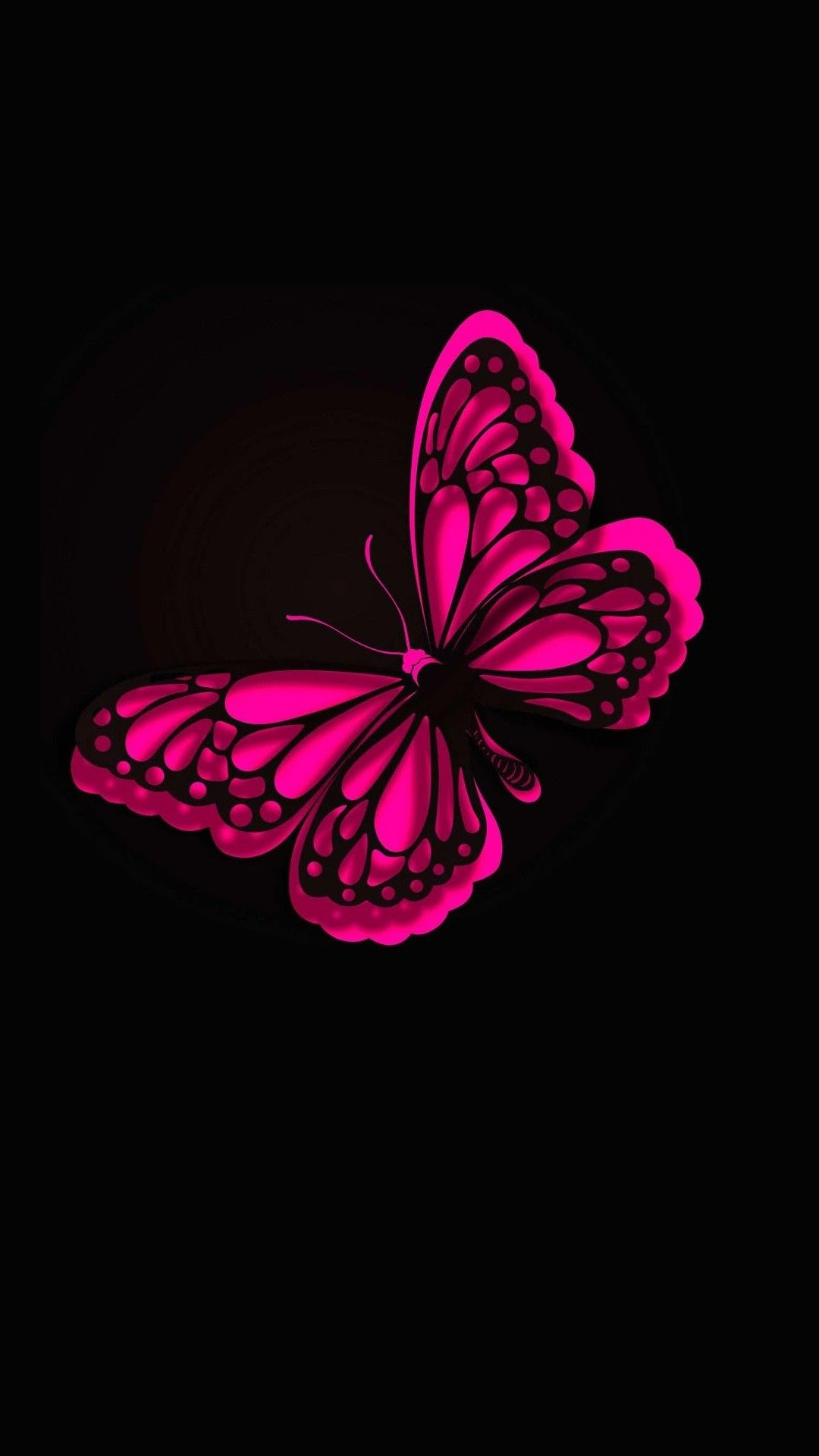 iPhone Wallpaper HD Pink Butterfly