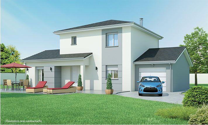 Maison moderne à étage Matin clair faire construire une maison