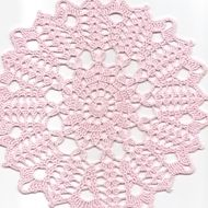 """Hand crochet beautiful doily, made from pink crochet cotton. Diameter about 9"""" (23cm). Will be adorable decoration at your home, will look great on any table. Perfect as a gift or just to treat yourself. Would like this doily in different colour, ..."""
