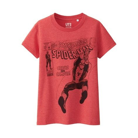 2e575600a9155 WOMEN MARVEL Collection Short Sleeve Graphic T-Shirt - UNIQLO UK Online  fashion store