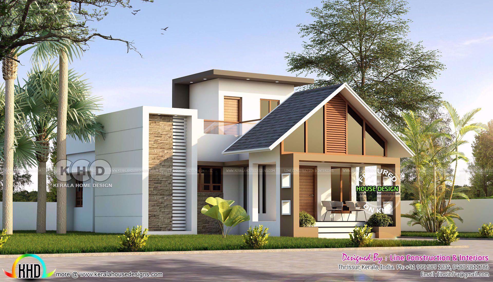 3 Bedroom Kerala House Plans Beautiful Cute Single Floor 1100 Sq Ft 3 Bedroom Home Kerala Home In 2020 Kerala House Design Kerala Houses Home Building Design