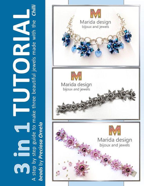 Tutorial 3 in 1 Chilliflower 2 bracelets and 1 von MaridaDesign
