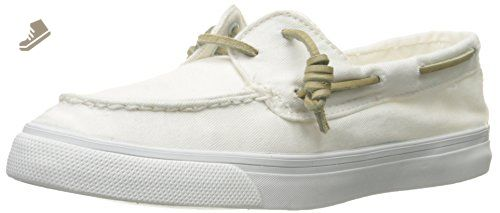 Sperry Top-Sider Women's Bahama 2-Eye Washed Fashion Sneaker, White, 8.5 M US - Sperry top sider sneakers for women (*Amazon Partner-Link)