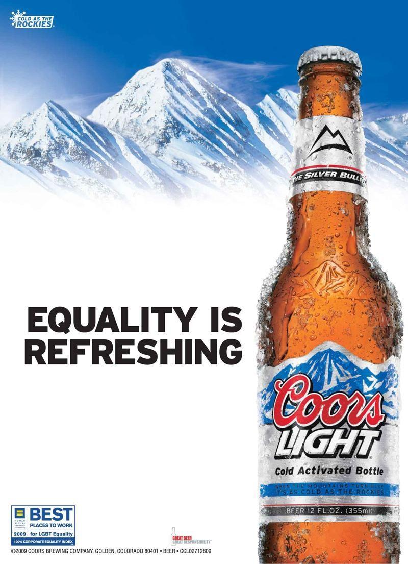 light advertisements bud Gay