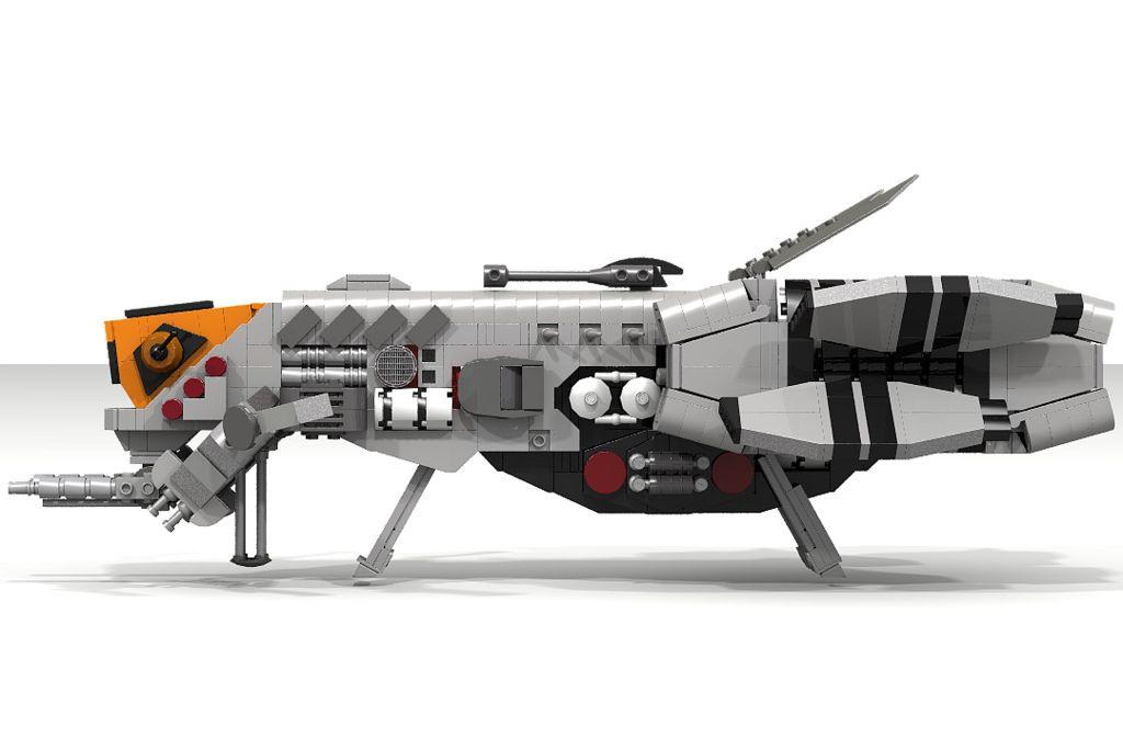 SakadaGunship(landed) | Lego Spacecraft | Lego ship, Lego toys, Lego