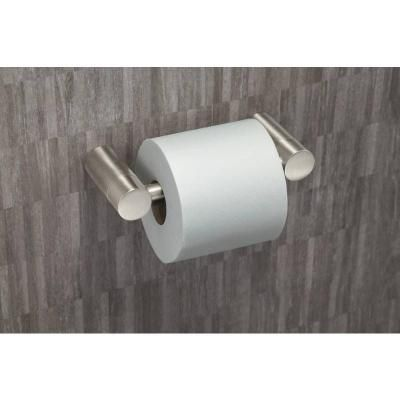 Moen Align Pivoting Double Post Toilet Paper Holder In Brushed Nickel Yb0408bn The Home Depot Toilet Paper Holder Wall Mounted Toilet Toilet Paper