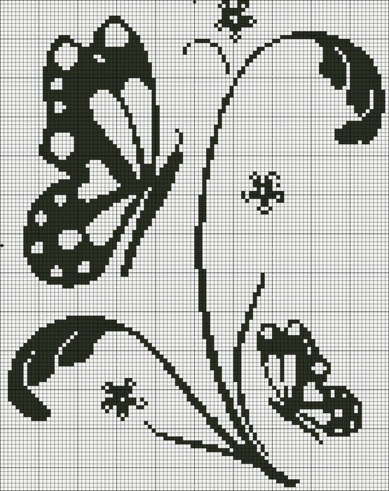 MARIPOSA 1 | Monocromas | Pinterest | Butterfly, Filet crochet and ...
