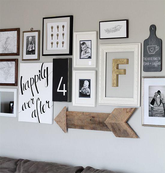 10 fa ons inspirantes de d corer avec des cadres photos embellir nos murs pinterest cadres. Black Bedroom Furniture Sets. Home Design Ideas