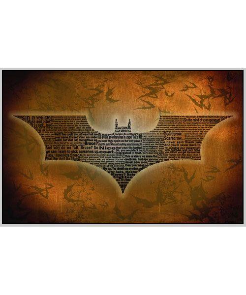 Batman Begins Typography Print