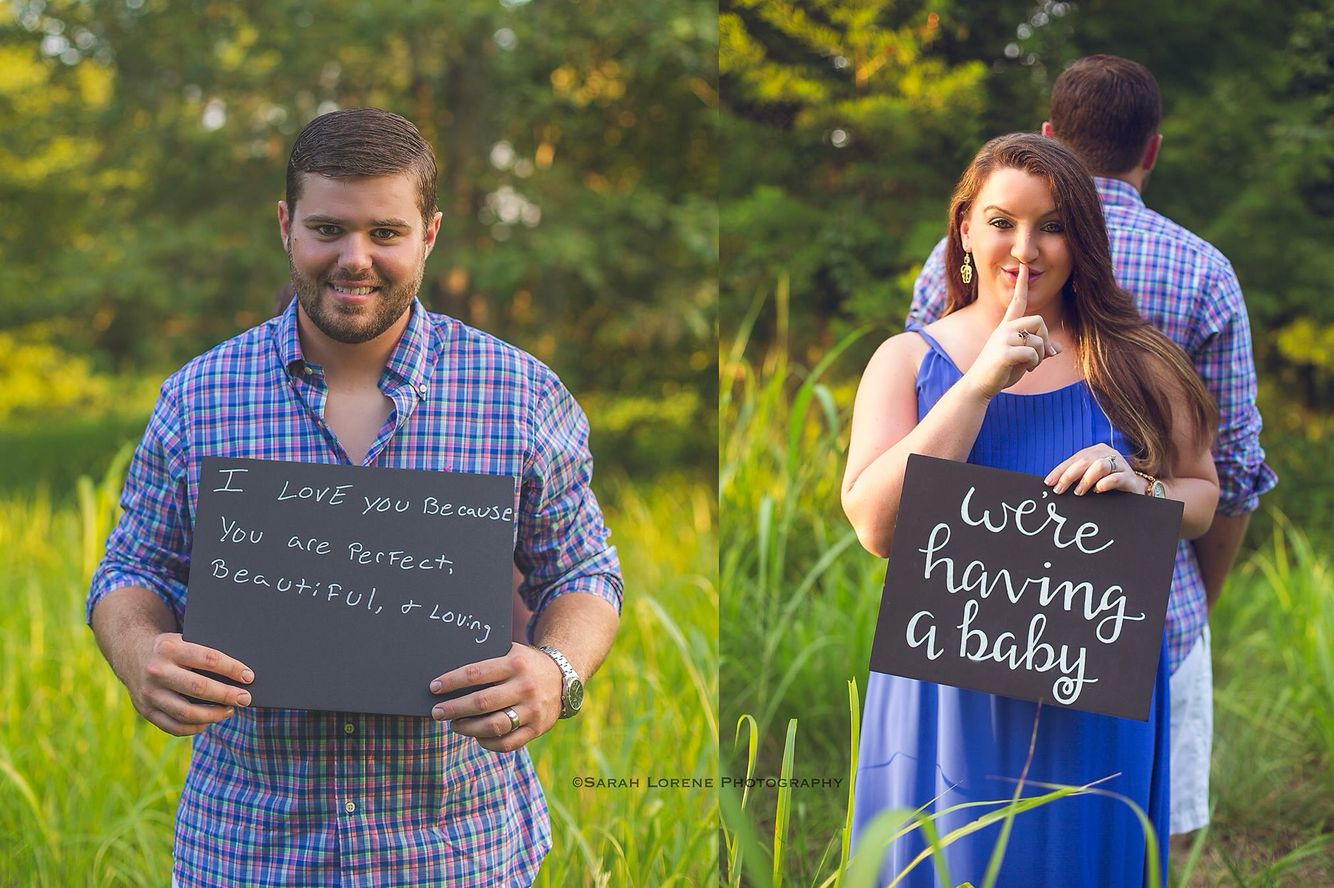 Pregnancy announcement to husband! He was so surprised ...