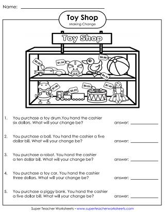Money Making Change Worksheets Super Teacher Worksheets Money Worksheets Making Change Money