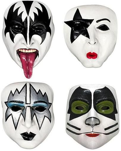 Kiss Band Makeup: Members Of The Band Kiss With Makeup