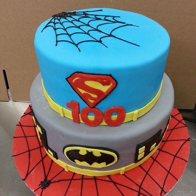 Superherocake superhero birthdaycake customcake vancouver
