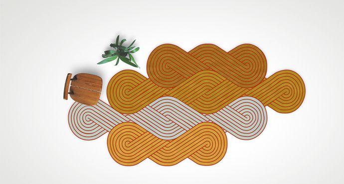 tresse tapis asymetrique colours samuel accoceberry. Black Bedroom Furniture Sets. Home Design Ideas
