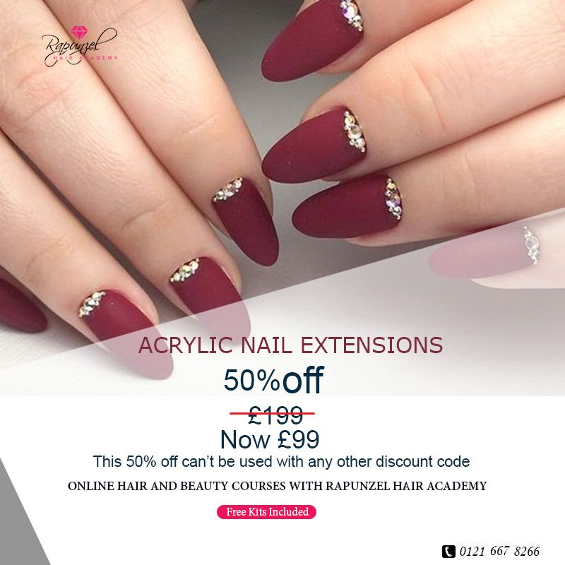 Acrylic Nail Extension Courses Rapunzel Hair Academy In 2020 Nail Extensions Acrylic Nails Nail Courses