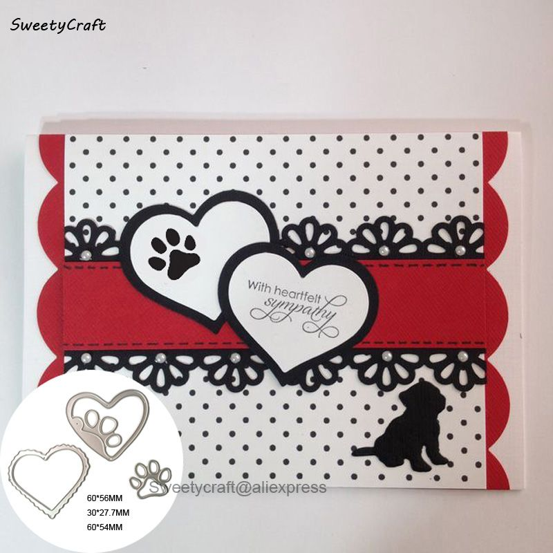 Cutting Dies stencil hearts border for Cards and Stamps Scrapbooking craft diy