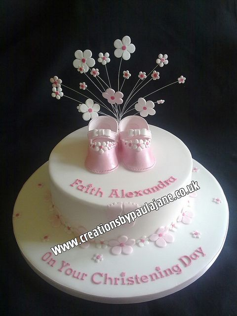 Girls Christening Cake Christening Cake Girls Christening Cake
