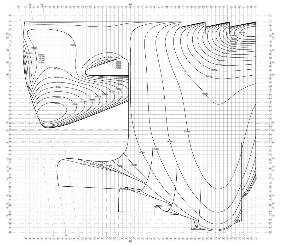 Zaha Hadid S Heydar Aliyev Cultural Centre Diagrams
