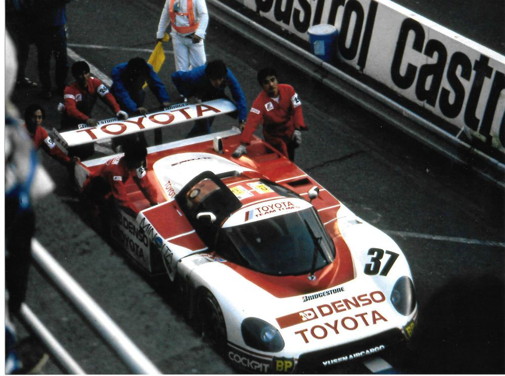 TOMS TOYOTA 87C 1987 LE MANS 24 HOURS Kaoru Hoshino Masanori Sekiya Tiff Needell in Sports Memorabilia, Motor Sport Memorabilia, Le Mans | eBay