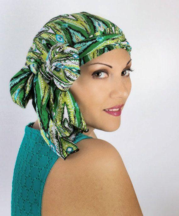 Comment mettre, nouer un foulard chimio ? Foulard pour