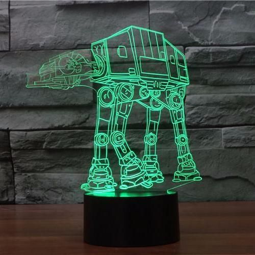Atat 3d Illusion Lamp Boffo Lights Boffo Lights Star Lamp Led Night Light Star Wars Lamp
