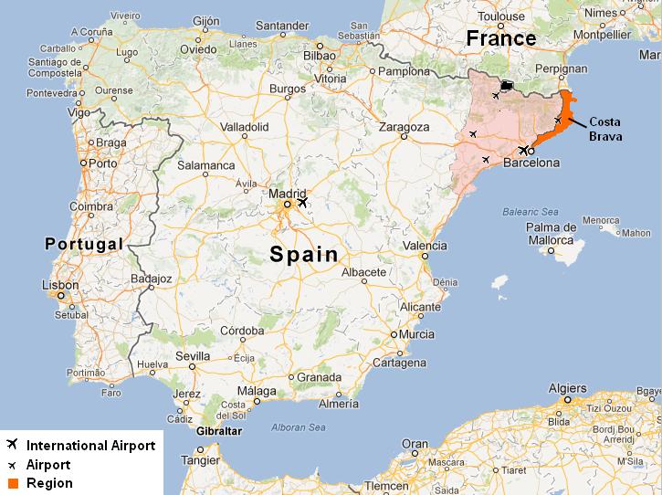 Map of Costa Brava, Catalonia | Meryem: Salvador Dali in 2018