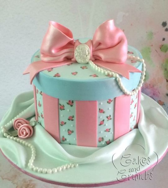 Decorating Hat Boxes Glamorous Hat Box Cake  Shabby Chic Cakes  Pinterest  Hat Box Cake Boxed Design Ideas
