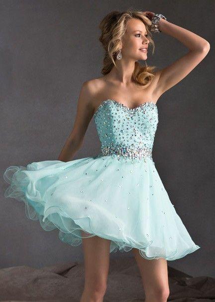 Short Strapless Prom Dresses