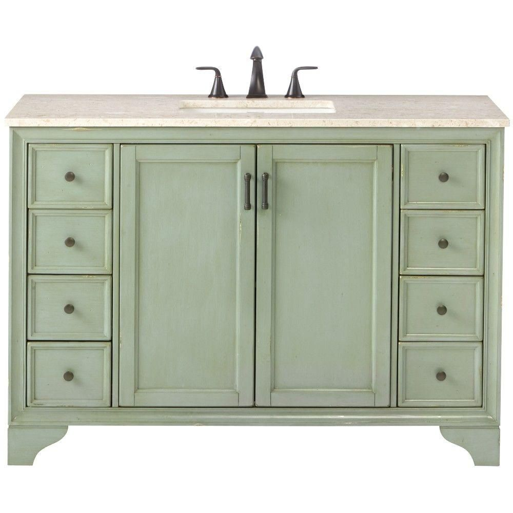 Home Decorators Collection Hazelton 49 In Vanity In Antique Green