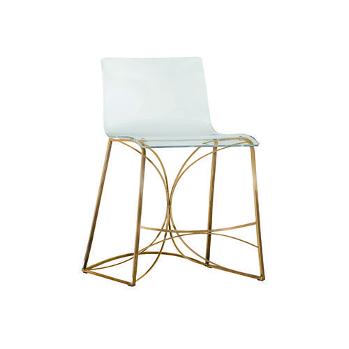 Fantastic Gabby Home Sch 151330 Angela Antique Gold And Clear Acrylic Short Links Chair Design For Home Short Linksinfo