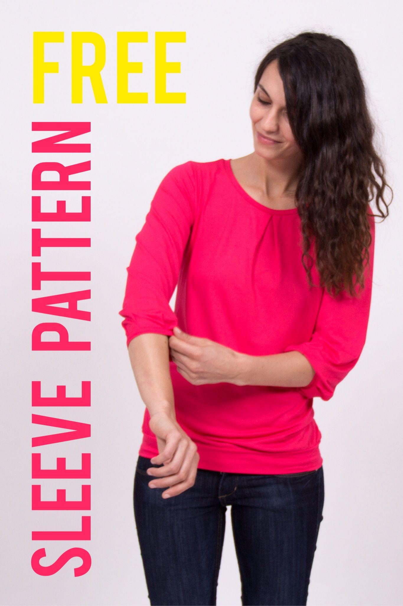 Damenshirt mit 3/4-Ärmeln nähen – Schnittmuster Freebie | Shirt ...