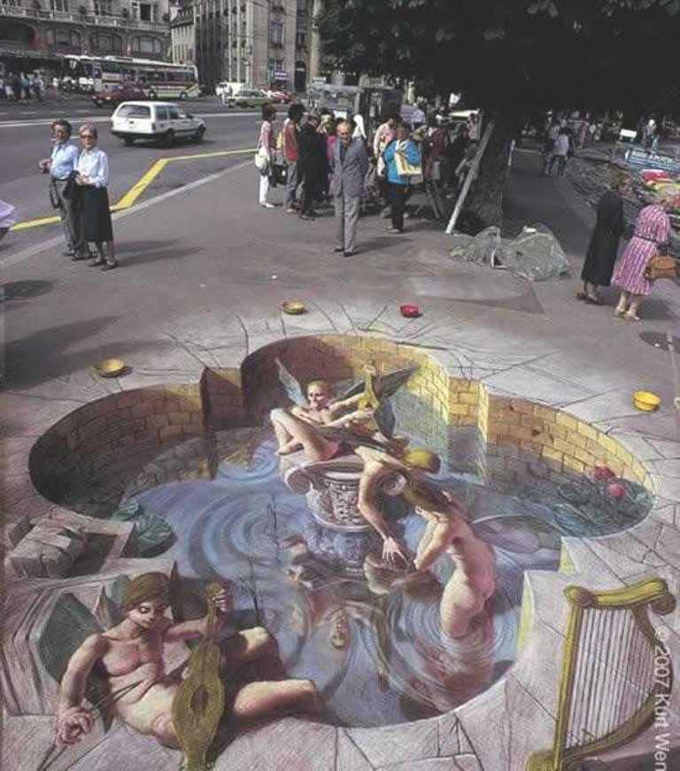 Street Art Free Downloads | 3D Street Optical Illusion 025 wallpapers and stock photos