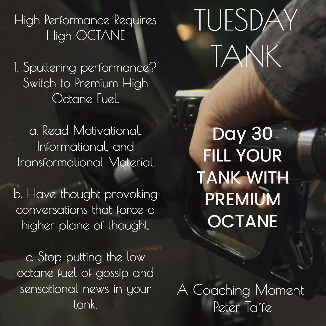 Day 30 fill your tank with premium octane theshift