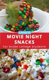 A Movie Night Snack Guide for the Broke College Student #movienightsnacks