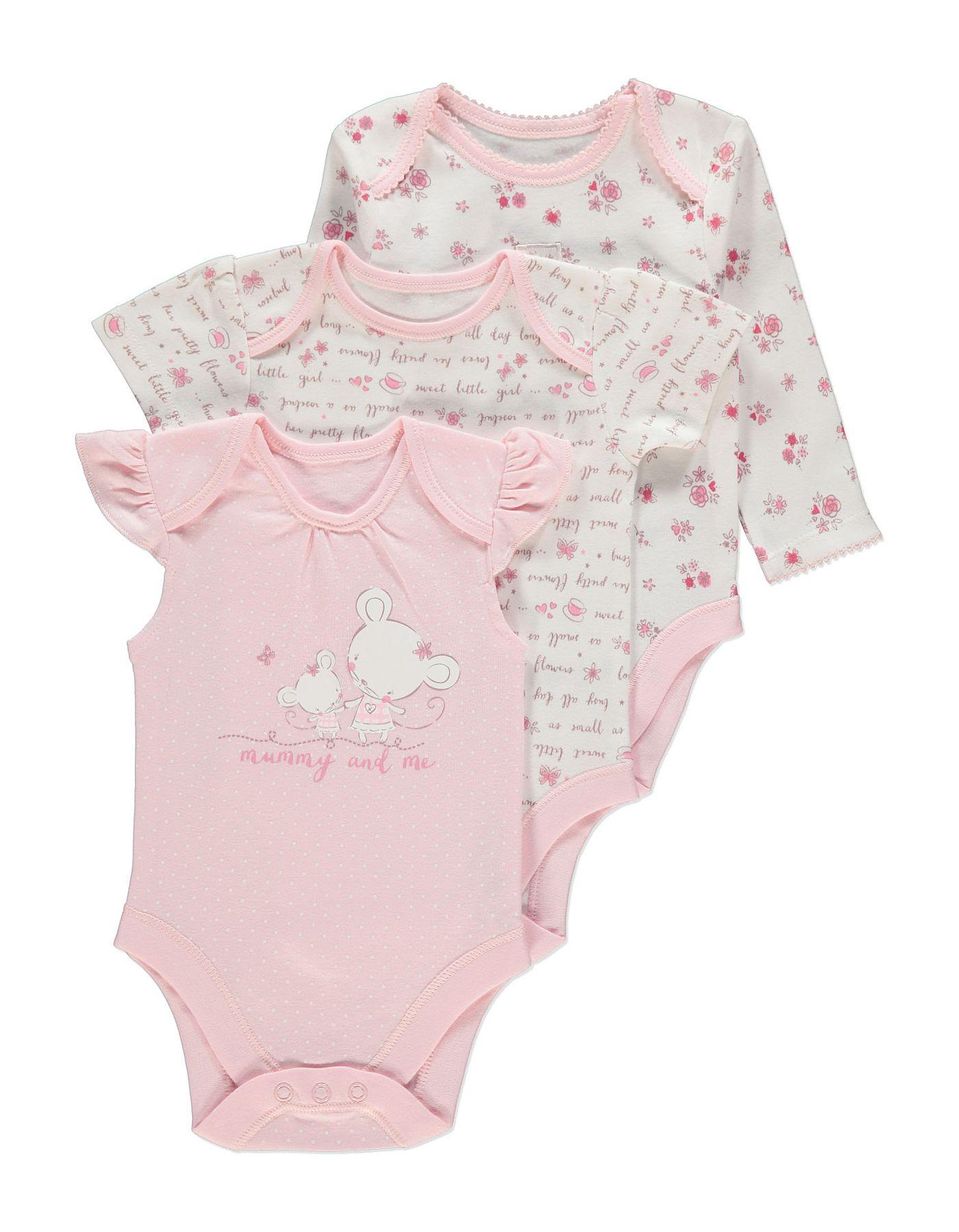 3 Pack Bodysuits Baby George At Asda Io Pinterest Babies