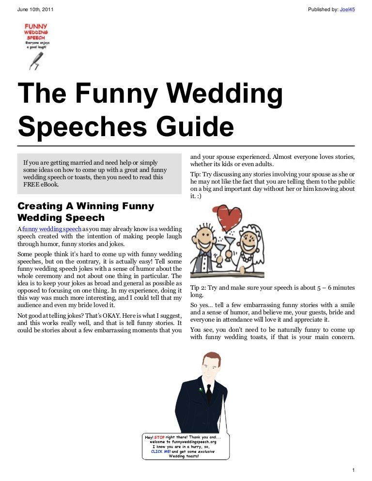 funny speeches cute The funny wedding speeches guide (With