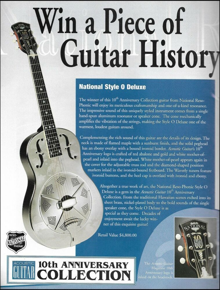 National Style O Deluxe Acoustic Guitar Magazine 10th Anniversary