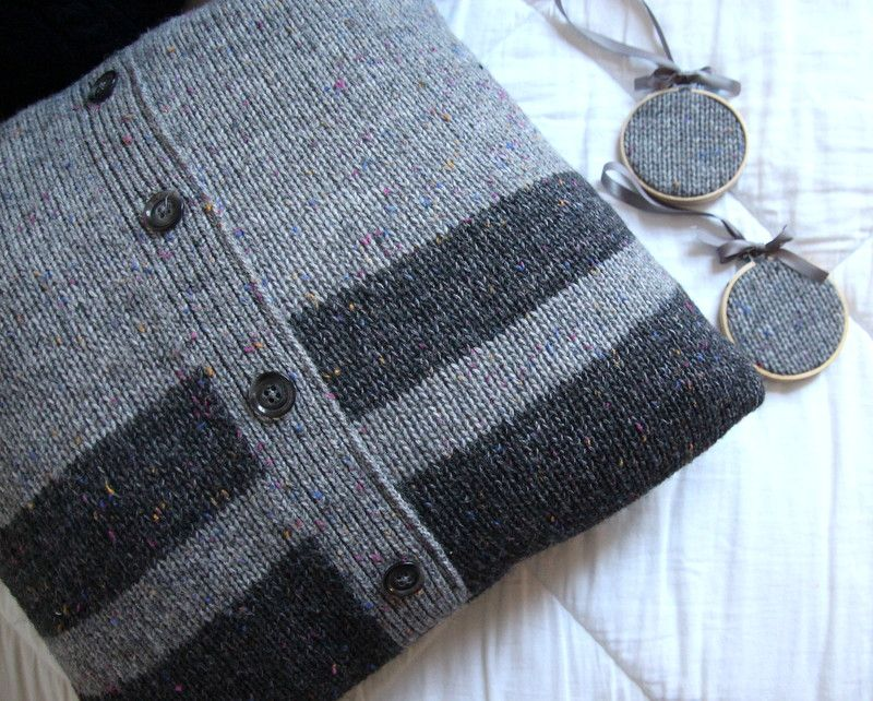 Sweater upcycled into a memory pillow (With images