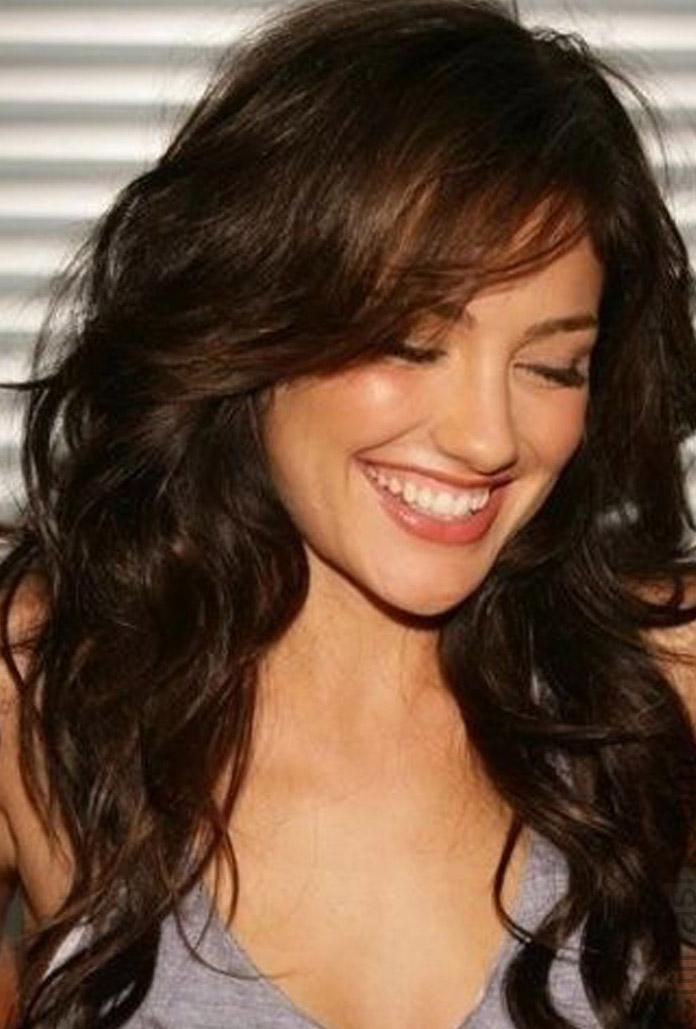 layered haircuts for curly hair with bangs medium curly hairstyles with bangs 2016 jpeg 696 4653