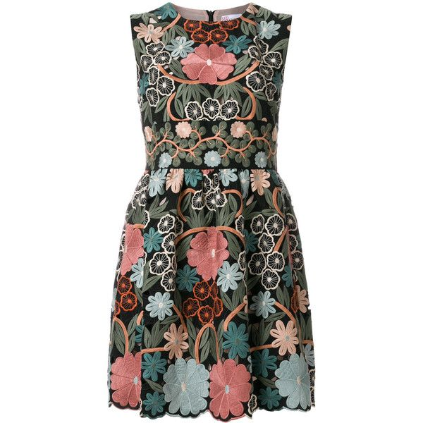 064a2bcc388b1 Red Valentino embroidered floral dress (17.473.435 IDR) ❤ liked on Polyvore  featuring dresses