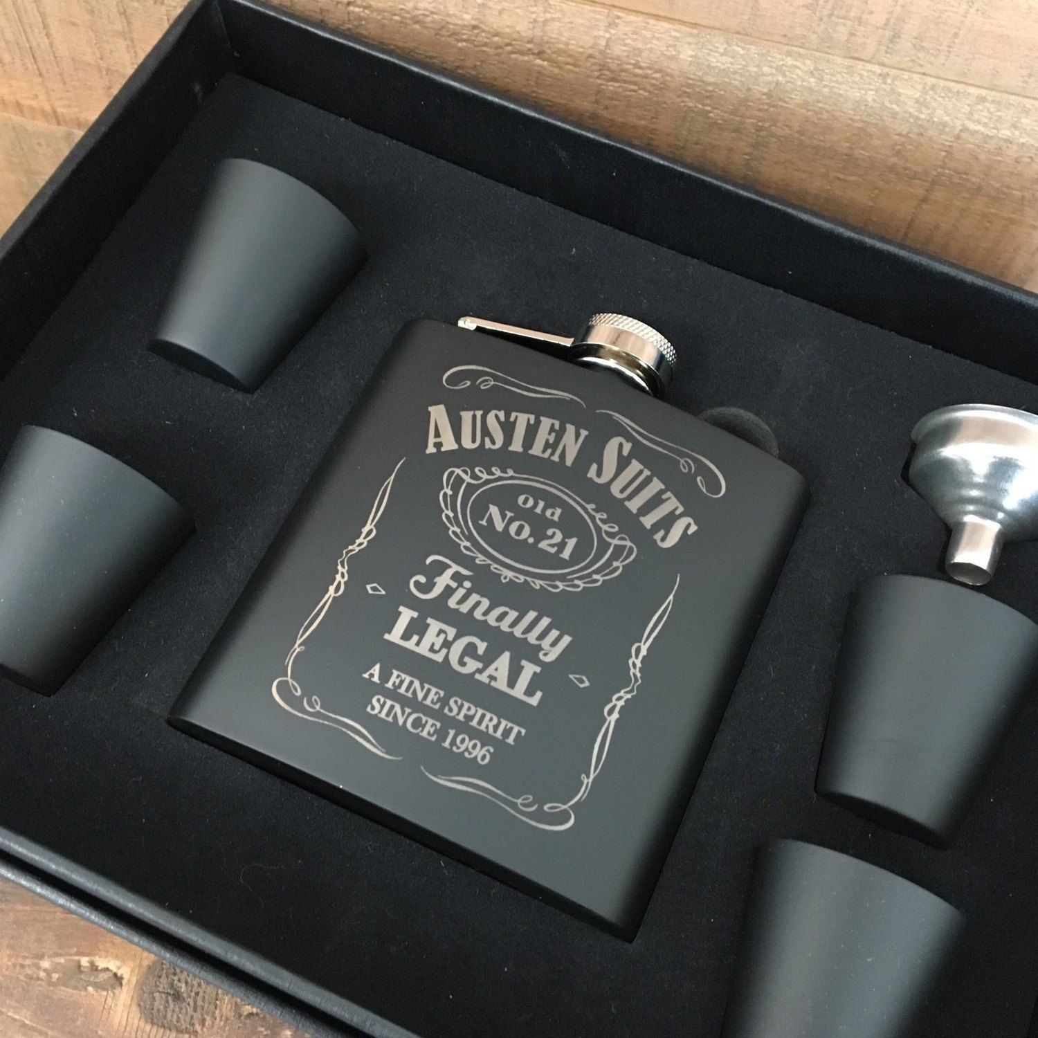 21st Birthday Gift Flask For Men Our 6oz Sets Are The Perfect To Celebrate A