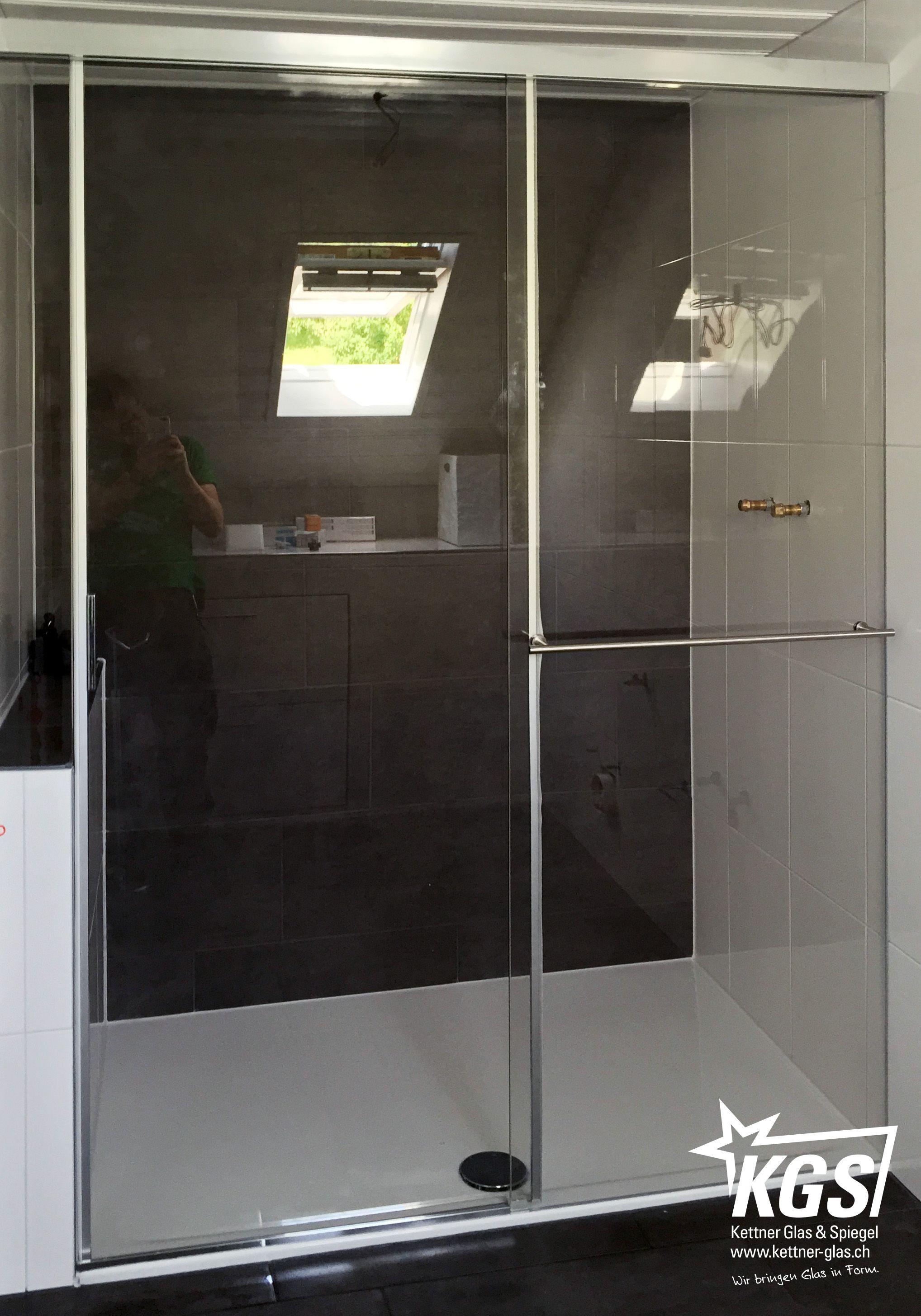 Eku Banio Duschkabine Als Nischenlosung Aus Showerguard Glas Mit Integriertem Handtuchhalter Im Festen Glasteil Erweitert Mit Duschkabine Dusche Spiegelwande
