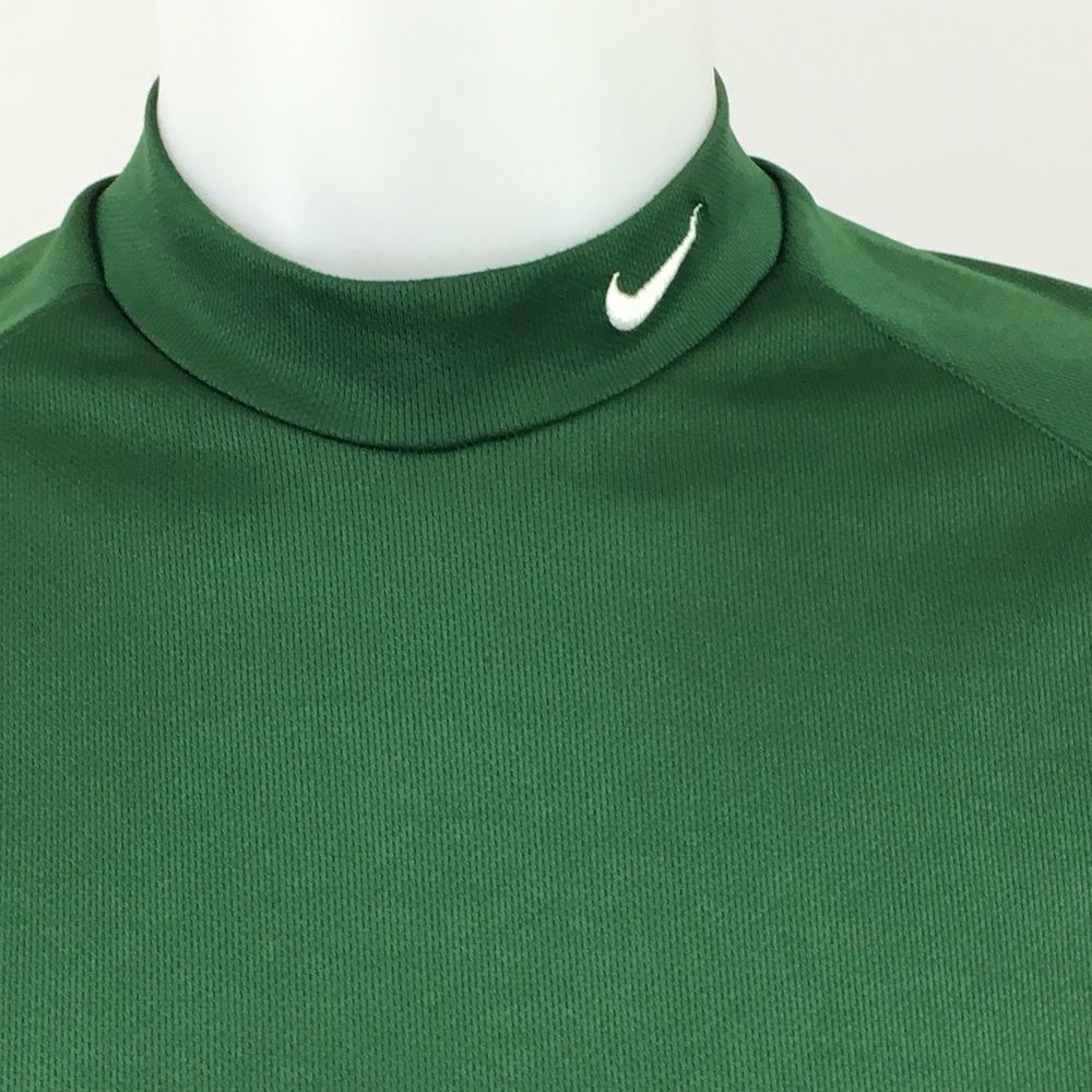 41a6b61e Nike Pro Fitted Dri Fit Long Sleeve Shirt Green Mock Turtleneck Size Large # Nike #Turtleneck