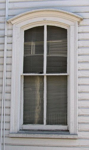 Italianate window style historic wood window 2 over 2 tdl notice the thick window muntin - Thick exterior paint concept ...