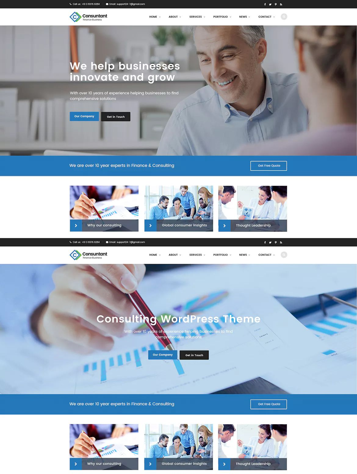 Consulting Finance Accounting Enterprise Psd Website Template