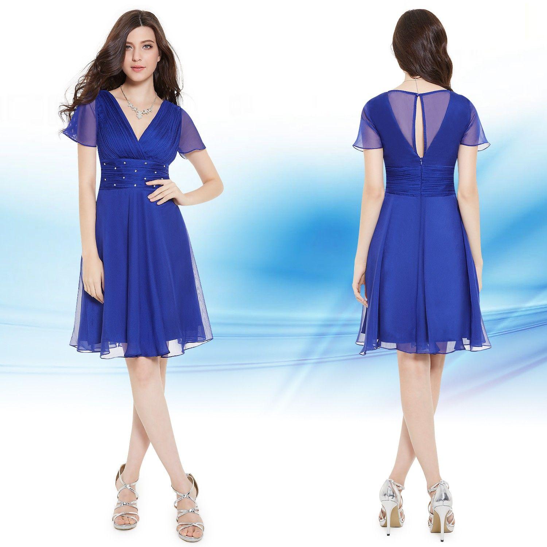 abendkleid kurz blau sommerkleid | sommerkleid, abendkleid