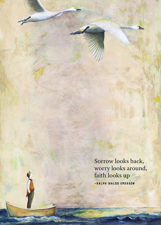 Sacredbee Card 444 Looks Up