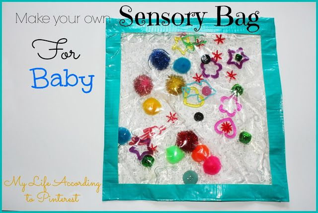 My Life According to Pinterest: Make Your Own Sensory Bag for Baby